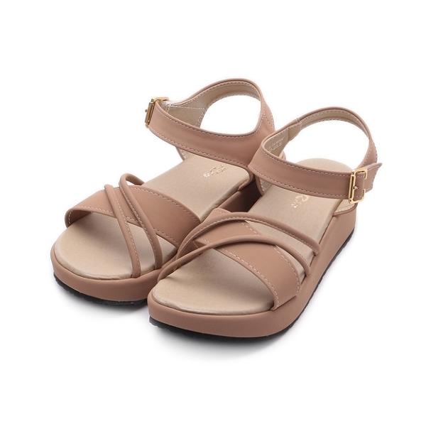 RIN RIN 雙繩楔形涼鞋 粉 女鞋