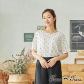 【Tiara Tiara】百貨同步 童趣娃娃短袖棉T(白/藍)