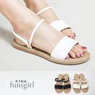 一字2way平底涼鞋拖鞋-2色~funs...