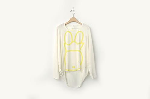 【2%】miffy皇冠前短後長上衣-白