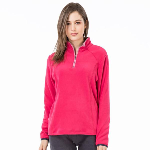 PolarStar 女 高領拉鍊保暖衣『桃紅』P19208 戶外│休閒│登山│露營│排汗│機能│POLO衫