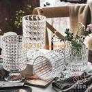 法式創意玻璃花瓶 透明輕奢擺件水養插花鮮花瓶餐桌客廳裝飾品【少女顏究院】