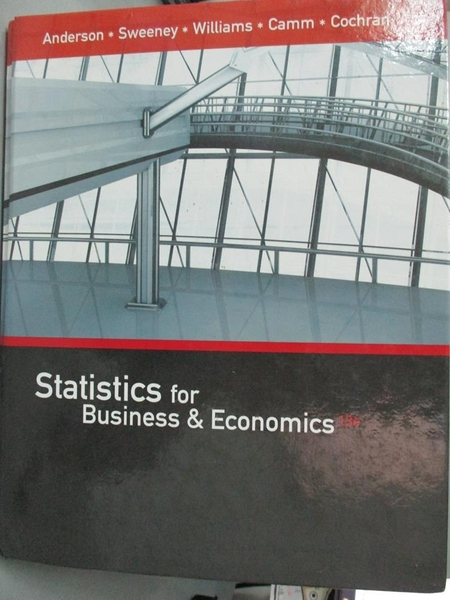 【書寶二手書T2/原文書_NFT】Statistics for Business & Economics_And