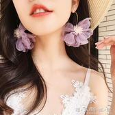 適合冬天的耳環超仙花朵氣質耳墜簡約個性韓國秋冬網紅莫蘭迪色系 晴天時尚館
