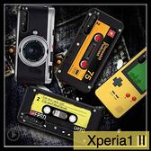 【萌萌噠】SONY Xperia10 II / Xperia1 II 復古偽裝保護套 全包軟殼 懷舊彩繪 創意新潮 錄音帶 手機殼