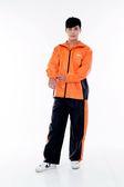 M2R雨衣,二件式 套裝式 風雨衣 M7/黑橘~林森
