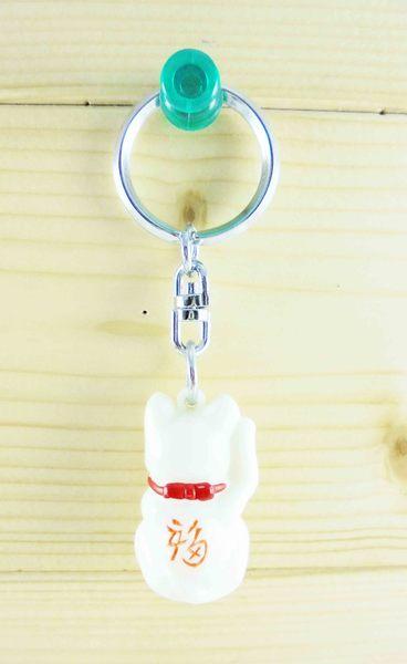 【震撼精品百貨】招財貓_招き猫~招財貓鑰匙圈-坐姿左手招手