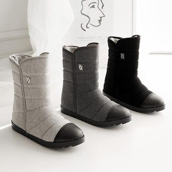 保暖雪靴中筒靴 正韓製 舒適保暖中筒靴 - 3色可選 2018首爾冬季新款