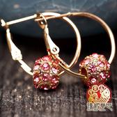 耳環 施華洛粉鑽精緻耳環 開光 臻觀璽世 IS0065