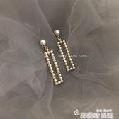 珍珠耳環女氣質百搭簡約長款甜美耳墜韓版時尚復古耳釘耳飾品 新年禮物