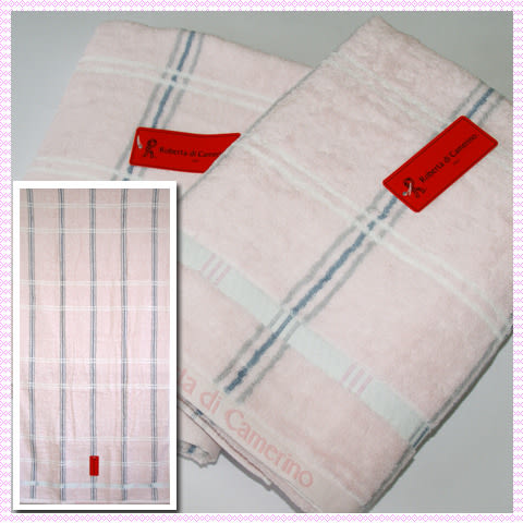 【esoxshop】╭*Roberta格紋印花浴巾(66x137cm)╭*居家必備精品《毛巾/澡巾/浴巾》