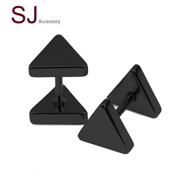 素簡手作《SE140》醫療鋼 鈦鋼耳夾 耳環 / 需耳洞 / 單邊售