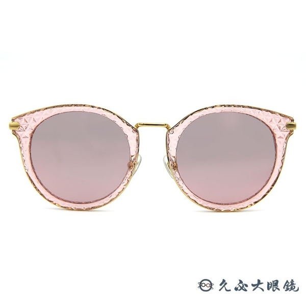 HELEN KELLER 林志玲代言 H8628 TD53 (透粉 -金) 貓眼 水銀 偏光太陽眼鏡 久必大眼鏡