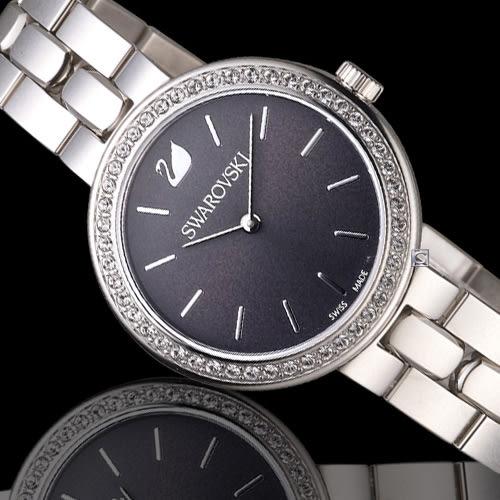 SWAROVSKI 施華洛世奇 Daytim 璀璨耀眼時尚腕錶 5213681 黑