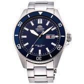 【台南 時代鐘錶 ORIENT】東方錶 RA-AA0009L MAKO XL系列兩百米潛水機械錶 藍/銀 44mm