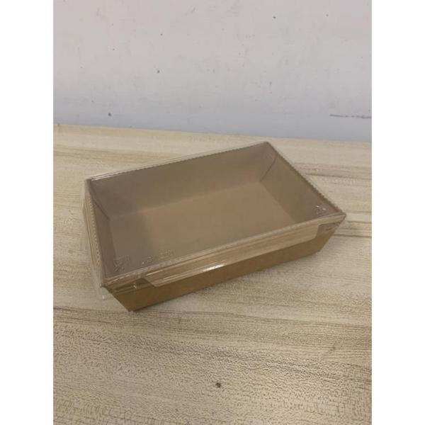 飯盒一次性牛皮紙餐盒外賣打包長方形沙拉壽司便當盒(20*15*5/@777-10428)