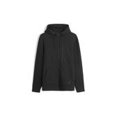 Gap男裝棉質舒適微彈拉鍊連帽衫528210-正黑色