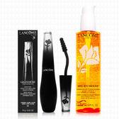 LANCOME蘭蔻 黑天鵝羽扇睫毛膏-防水版10g+蜂蜜卸妝潔顏油200ml