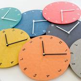 創意鐘表掛鐘客廳現代簡約時鐘圓形數字家用臥室靜音掛表HPXW