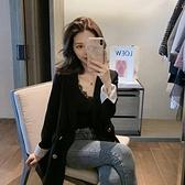西裝外套 年春季韓版英倫風ins設計感小眾小西裝外套女潮春秋西服上衣 交換禮物