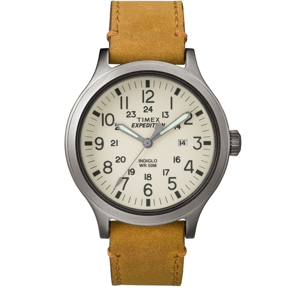 【TIMEX】天美時EXPEDITION遠征戶外系列腕錶(米白面/褐色帶 TXT4B06500)