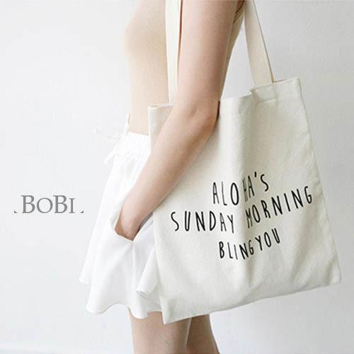 手提包 帆布包 手提袋 環保購物袋【DEF00123】 BOBI  08/18