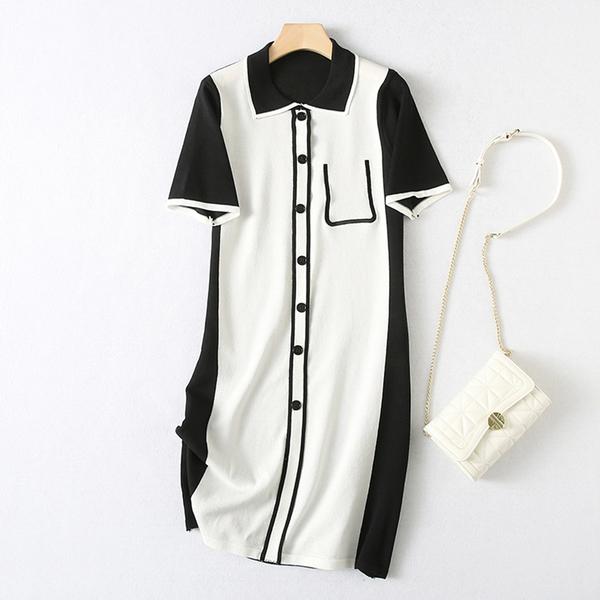 *ORead*polo領針織短袖連身裙(圖片色F碼)