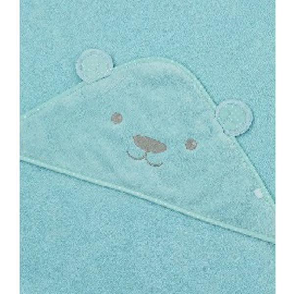 mothercare 豪華熊熊連帽浴巾-粉色、藍色