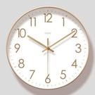 客廳時鐘 北歐ins少女心掛鐘客廳簡約創意時鐘經典時尚掛表家用超靜音鐘表【快速出貨八折搶購】