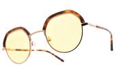 CARIN 太陽眼鏡 DENCI C2 (玫瑰金-琥珀棕-黃鏡片) 韓星秀智代言 質感俏皮眉框款 # 金橘眼鏡