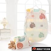 睡袋嬰兒紗布背心薄款新生兒初生寶寶兒童防踢被