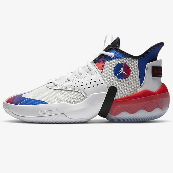 NIKE Jordan React Elevation PF 男鞋 籃球 Zoom Air 緩震 回彈 白藍紅【運動世界】DC5188-102