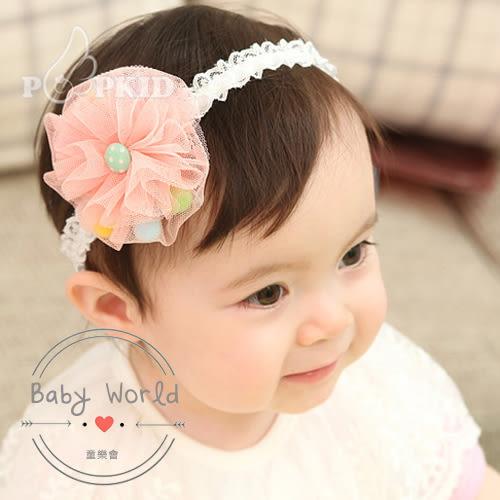 髮帶 寶寶 女童 網紗 棉球 造型 髮飾 BW