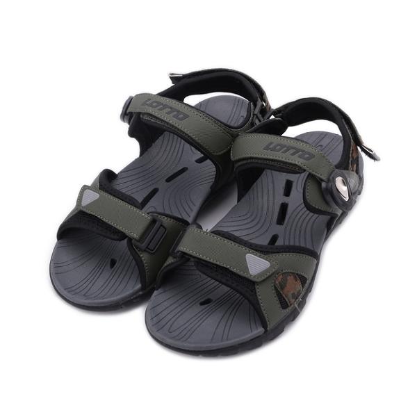 LOTTO 迷彩磁釦排水運動涼鞋 迷彩綠 LT1AMS3185 男鞋