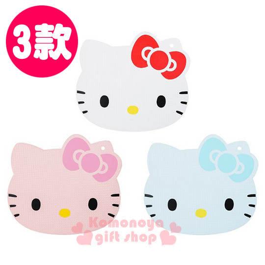 〔小禮堂〕Hello Kitty KYOCERA日本京瓷 日製造型塑膠砧板《三色.大臉》4960664-7____