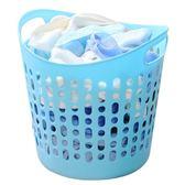 愛麗思浴室大號洗衣籃塑料裝髒衣服非柳編收納筐收納籃子髒衣簍桶【快速出貨免運】