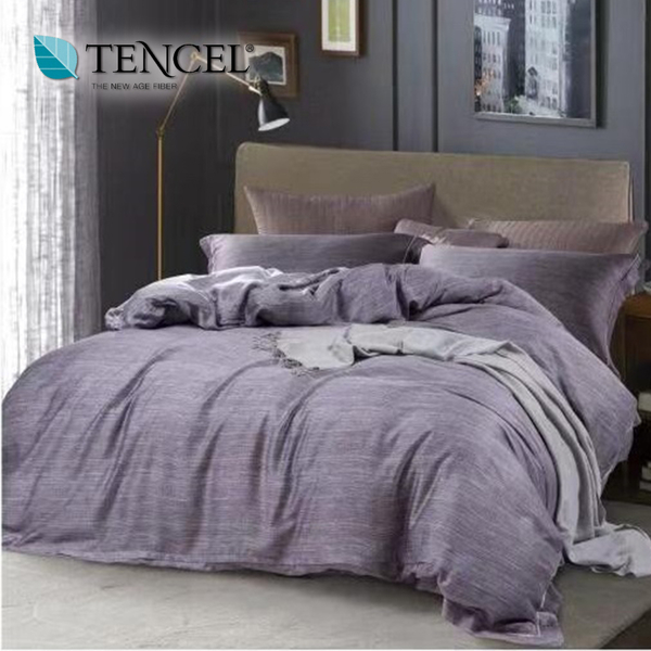 【貝淇小舖】天絲床包四件式 100%萊賽爾天絲雙人5x6.2尺 鋪棉兩用被床包組 附天絲吊卡 柯比