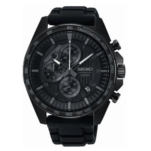SEIKO CS急速時光三眼計時腕錶/8T67-00H0SD/SSB327P1