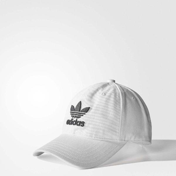 adidas 帽子 Trefoil Cap 可調整 老帽 黑 / 白 兩色任選 棒球帽 男女款 穿搭必備【PUMP306】