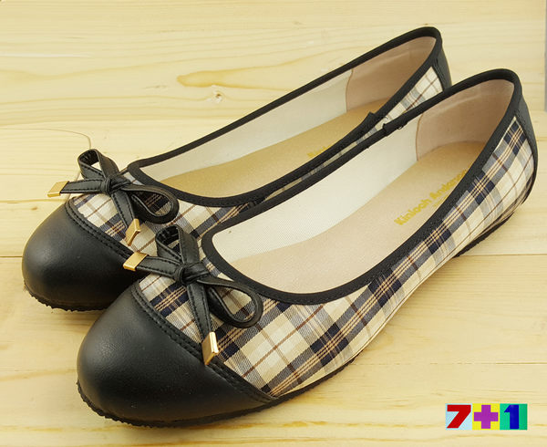 Kinloch Anderson 金安德森 貴族格紋公主鞋《7+1童鞋》A642黑色