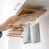 免打孔壁掛砧板架櫥柜案板掛架收納架廚房掛菜板架子置物架   夢曼森居家