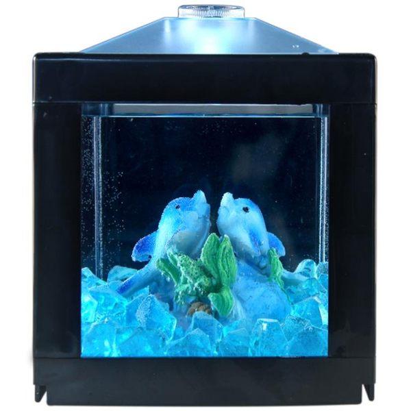 辦公桌迷你創意斗魚魚缸小型水族箱桌面家居客廳裝飾壓克力懶人缸  igo 可然精品鞋櫃