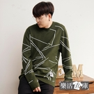 潮流滿版線條親膚圓領針織衫毛衣(共三色)● 樂活衣庫【SW6855】