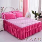 夾棉加厚床裙新款床墊保護床罩 單件床套加棉1.8m1.5米床LXY5978【Rose中大尺碼】