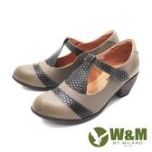 W&M (女)撞色瑪莉珍鞋 娃娃鞋 高跟鞋 女鞋 -可可(另有咖)