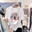 2020新款印花字母cec純棉白色T恤韓版寬鬆夏裝上衣超火ins短袖女 依凡卡時尚
