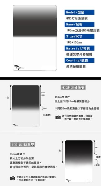 @3C 柑仔店@ 內附磁鐵框 EverChrom Reverse-GND 0.9 100×150mm 方形反向漸層鏡 公司貨