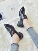 新品紳士鞋加棉小皮鞋女學生韓版百搭秋冬季新款保暖英倫鞋【新品推薦】