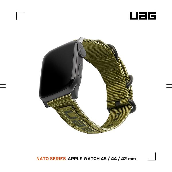 UAG Apple Watch 42/44/45mm Nato尼龍錶帶-綠