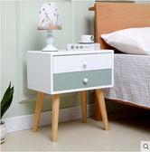 北歐床頭櫃簡約現代經濟型多功能實木床邊收納櫃